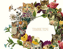 Cat × Thanks card