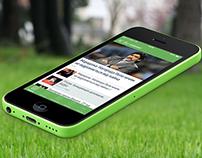 Football 24 / Футбол 24 iPhone App redesign