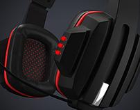 3D Render Gamer Headsets