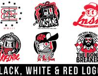 Black, White & Red logos