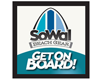 Identity and marketing pieces for SoWal Beach Gear