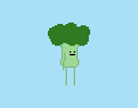 Pixel character animations