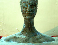Человек-маска  или подставка для благовоний