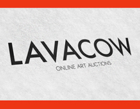 Visual Identity: Lavacow - Online Art Auctions House