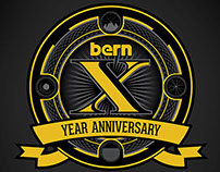 Bern Unlimited 10th Year Anniversary Branding