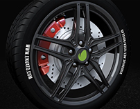 Car Wheel - Automotive Logo