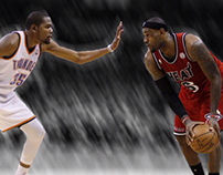 Lebron james vs kevin durant 'stuck in motion'