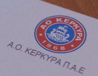 AO Kerkyra FC identity and advertising 2010 - 2011