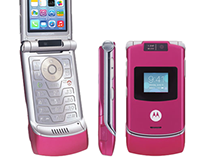 iOS on a Razr Flip Phone