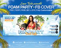 Foam Party   Facebook Cover