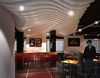Bar / Cafe, Pune   Interior/graphic Digital Wall