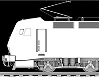Electric locomotive model