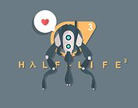 12 theories about Half-Life3. Flat illustrations.