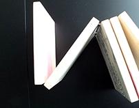 """Wooden book """"Border"""" 2014, Poland"""