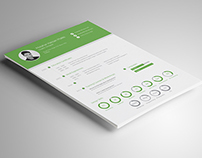 Resume in Flat Design