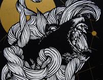 DEFTONES Live in Collegno - SIlkscreen Poster 2010