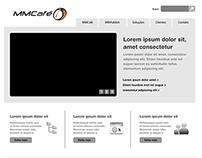 Wireframe Site Institucional MMCafé