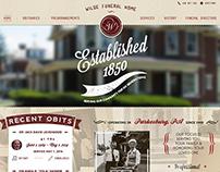 Wilde Funeral Home Website & Logo Design