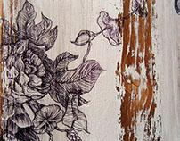 Drawings on wood panels - 2013 / 2014