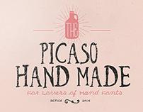 Picaso vintage typeface