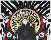 FU MANCHU Live in Torino - Silkscreen Poster 2011