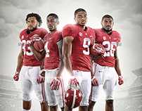2014 Alabama Football Schedule Poster