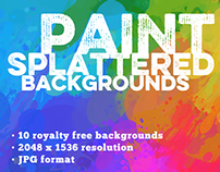 #PackADay - 7/18/14- Paint Splattered Backgrounds