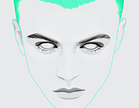 Green Hair Portrait