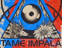 TAME IMPALA Live at Spaziale Festival 2011 Poster