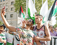 Demonstration against Israeli offensive, Barcelona