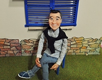 Silicone puppet character