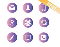 Web Icon Set (Free Vector)