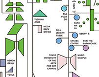 Chiyoda subway image map