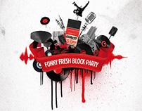 Flyer Fonky Fresh Block Party