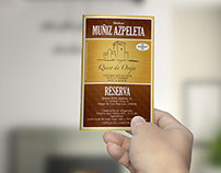 Rebranding de etiquetas para Quesos Muñiz Azpeleta.