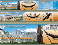 Yosemite Valley Gear Hammock Package Design/Photography