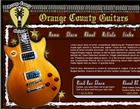 Orange County Guitars Website and Logo