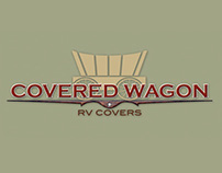 Covered Wagon RV Covers Logo Design