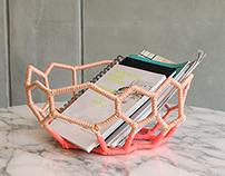 Ruber Bowl + Clathrus Basket