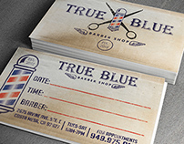 True Blue Business Cards