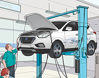 illustration for Hyundai Motor's ix35 Fuel cell