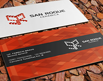 San Roque Ceramics \ business card + isologo design