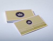 Business Cards - Luxury Gold Pattern