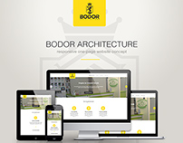 Bodor architecture one-page website