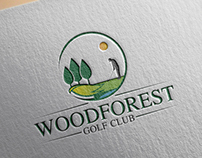 Logo Design for WOODFOREST Golf Club