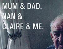 Mum & Dad. Nan &  . Claire & Me.