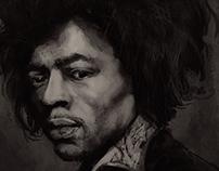 Portrait Study - Jimi Hendrix