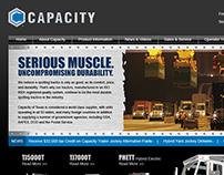 Capacity Brand Upgrade Website Mockup