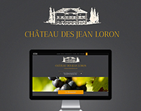 Design integration of Jean Loron's website