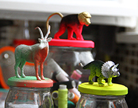animals on jars!